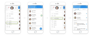 DataFest app favourites screen