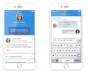 DataFest app private messages screen