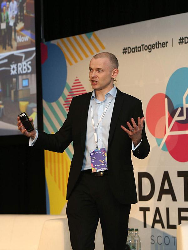 RBS talk to students at Data Talent Scotland